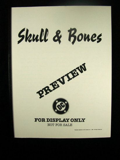 D.C. Comics Black & White Proof Preview Skull & Bones 1991
