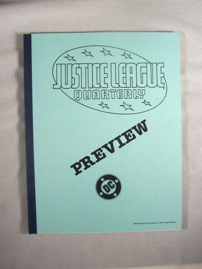 D.C. Comics Black & White Proof Preview Justice League Quarterly