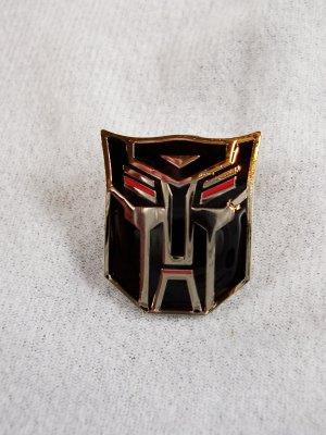 Transformers Autobot Black Silver Face Logo Enamel Pin