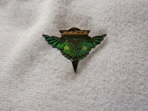 Star Trek: Next Generation Romulan Crest Logo Pin Small Green