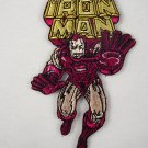 Marvel Comics Iron Man Running with Name Logo Patch