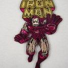 Marvel Comics Iron Man Running with Name Logo Patch