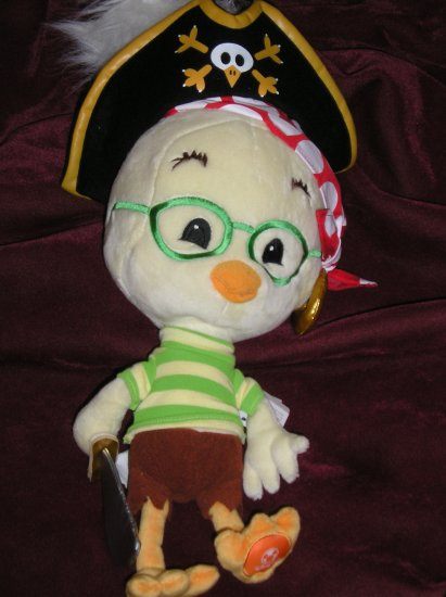 "Disney Chicken Little as Pirate 17"" Plush - Adorable!"