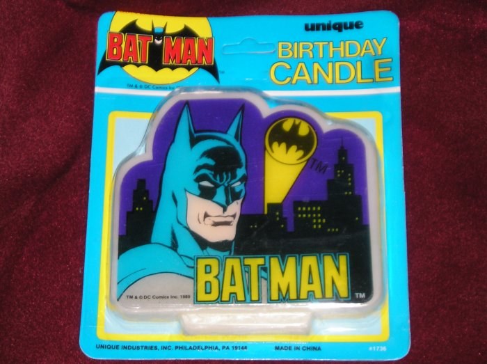 1989 Batman Birthday Candle - NEW In Package - Cool!