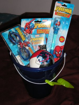 Lot of Spider-Man Toys, Swim Goggles, Ball - Great Gift
