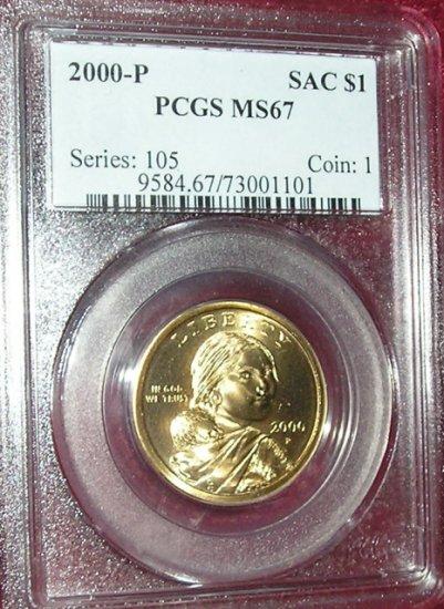 2000-P PCGS MS67 Sacagawea Dollar!