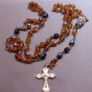 Golden & Purple Faceted Rosary (small)
