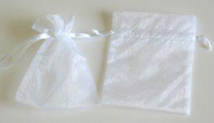 "3"" x 4"" White Organza Favor Bags - 12 pack"