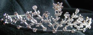 *Sale* Floral Crystal Filigree Tiara