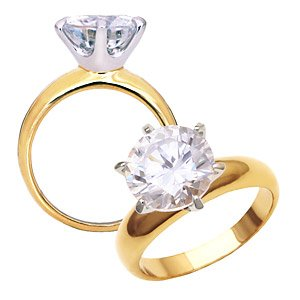 CZ Diamond Solitaire ~ Size 7