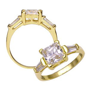 CZ Diamond Ring ~ Size 6
