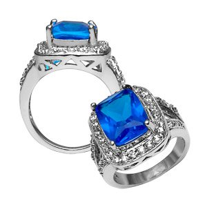 Royal Blue Cocktail Ring ~ Size 6