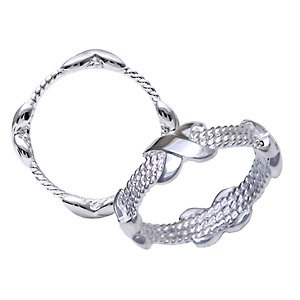 Silver Rope Ring ~ Size 10