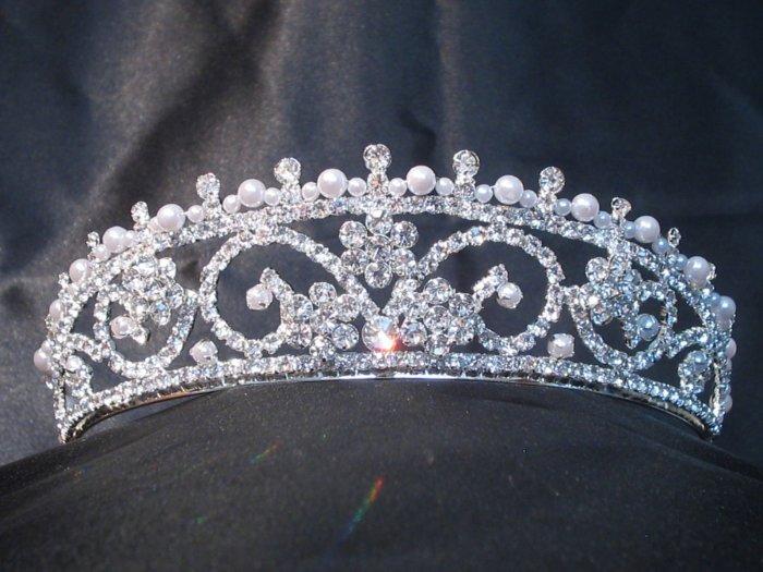 *Sale* Swarovki Rhinestone & Pearl Royal Tiara