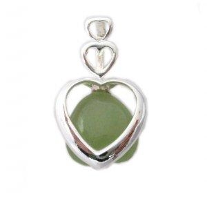 Sterling Silver Triple Heart Amazonite Pendant