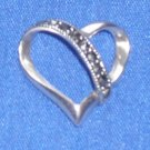 *SALE* Marcasite Heart Slide