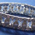*SALE* Pearl & Rhinestone Stretch Bracelet