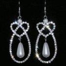 Pear Pretzel Drop Earrings
