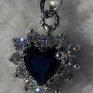 Blue Fianit Heart Pendant