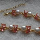 Pearl & Pink Finait Bracelet