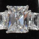Emerald Cut Fianit Ring