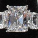 Emerald Cut Fianit Ring
