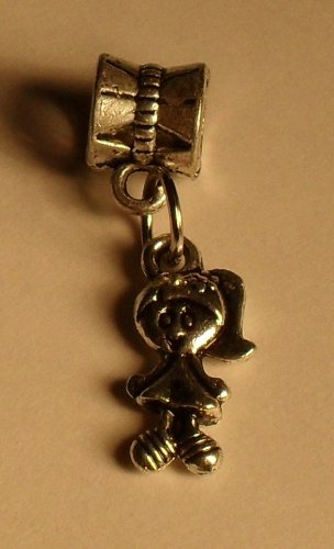 Silver Little Girl Charm