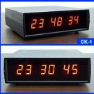 CK-1 LED Digital Desk Clock with Seconds 12 / 24 Hour Clock