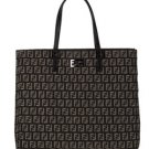 Fendi Brown Jacquard Logo Tote