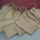 25 Coffee Stained Hang Tags, Primitive Tags, Antique Tags, Vintage Tags