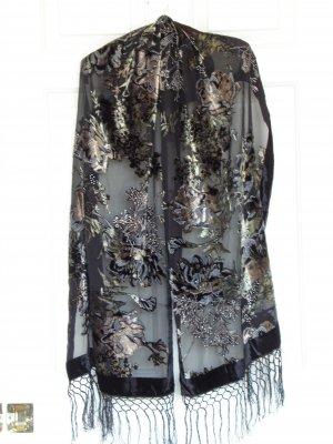 silk velvet shawl