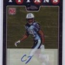 Chris Johnson RC Auto 2008 Topps Chrome Autographed RC #TC186 Titans Cardinals