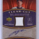 Justin Verlander 2007 UD Elements Clear-Cut Autograph #CCE-JV Tigers #/199
