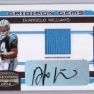 DeAngelo Williams #/50 Auto RC 2006 Donruss Gridiron Gear Autographed Prime Jersey #205 Steelers