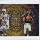 1998 Randy Moss & Peyton Manning RC Playoff Momentum Rookie Quads #16 Broncos, Vikings