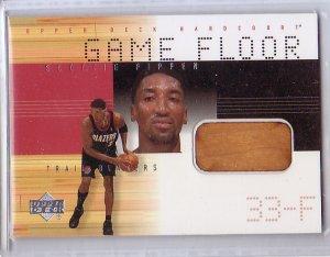 Scottie Pippen HOF 2000-01 Upper Deck Hardcourt Game Floor Game Relic #SPF Bulls, Blazers