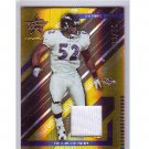 Ray Lewis #/50 2004 Leaf R&S Materials 'Gold' Jersey #10 Ravens