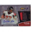 Jacquizz Rodgers RC 2011 Certified Autograph & Player-Worn Patch Falcons #022/599 Jersey #