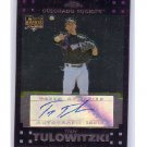 Troy Tulowitzki 2007 Topps Chrome Autographed RC #331 Rockies