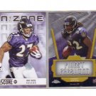 2 Card Set! Torrey Smith RC & Ray Rice Insert housed in Plastic Case!  Ravens