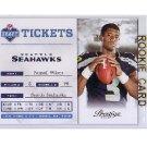 Russell Wilson RC 2012 Prestige Draft Tickets #31 Seahawks