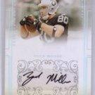 Zach Miller 2007 National Treasures Autograph RC #198 Seahawks #88/99