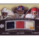 Tony Gonzalez #/75 2008 Premier Trios Patch  Antonio Gates Jeremy Shockey Falcons Chargers Giants