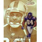 Jerry Rice Randy Moss 1999 Topps Gold Label #R15 49ers Vikings Patriots Raiders