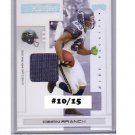 Deion Branch #/15  2007 Playoff Materials Silver Prime Jersey #88 Patriots Seahawks