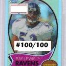 Ray Lewis 2005 Topps Chrome Gold Refractor #TB15  Ravens #/100