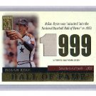 Nolan Ryan 2004 Topps Tribute HOF Authentic Jersey Relic #TR-NRJ Astros Rangers Angels