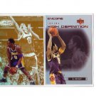 Kobe Bryant 2-Card Lot Lakers Encore High Definition & Topps Gold Label