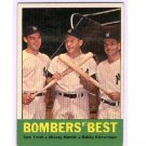 1963 Topps #173 Bomber's Best  Tom Tresh/Mickey Mantle/Bobby Richardson  Yankees