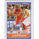 James Harden Pre-RC 2007 Topps McDonald's All-American #JH Rockets, Thunder